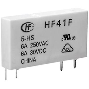 PCB relays 12 Vdc 6 A 1 change-over Hongfa HF41F/0