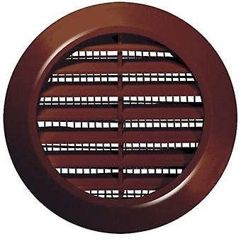 60mm Diameter Hole White/Brown Round Door Air Vent Grille Woodwork Furniture