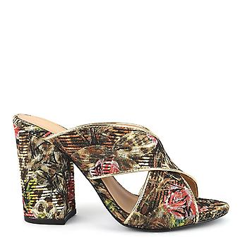 Ash Footwear Lolabis Leopard And Floral Print Heeled Mules