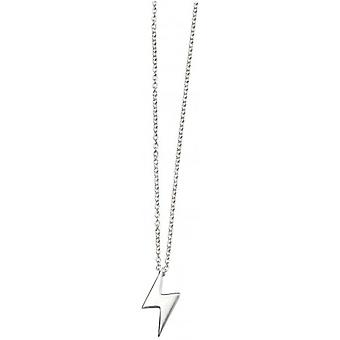 Beginnings Lightning Bolt Necklace - Silver