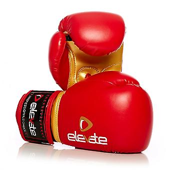 Elevate  PU Kids Boxing Gloves - Red Gold