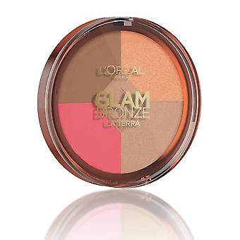 L'Oreal Glam Bronze La Terra Healthy Glow Compact - 02 Medium