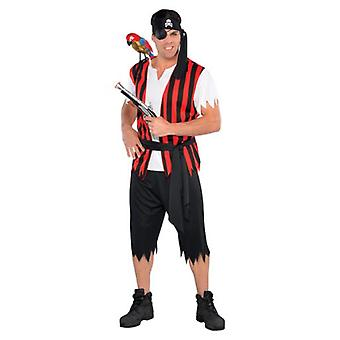 Amscan Pirate Costume Ahoy Matey for Adult Standard (Babies and Children , Costumes)