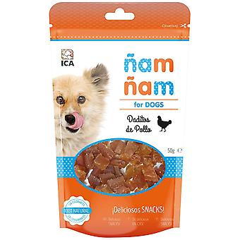 Ica Dados de Pollo Ñam Ñam 50G (Dogs , Treats , Chewy and Softer Treats)