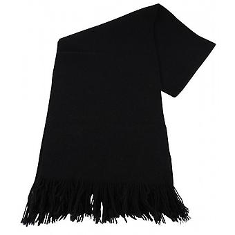Bassin and Brown Dobson Plain Wool Scarf - Black