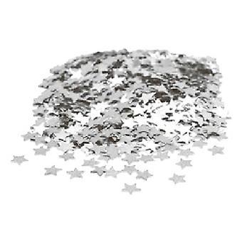 紙吹雪シルバー ミニ星 - 購入する 1 は、無料 1 を取得します。
