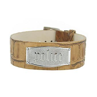 Police mens bracelet Amarillo stainless steel leather PJ. 21321BLC/05