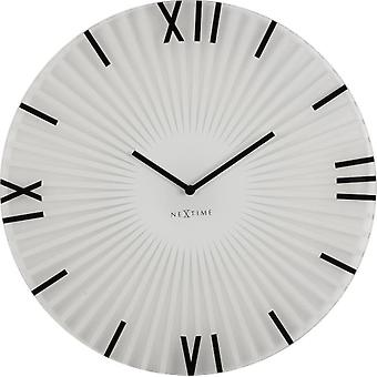 Nextime Wall clock  43X3,5 cm glass white sticks (Decoración , Relojes)