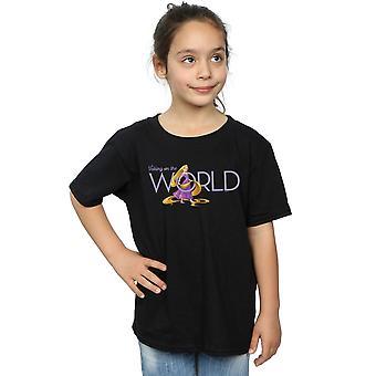 Ragazze Disney Tangled prendendo sulla t-shirt mondo