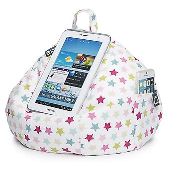 Ipad, Tablet & Ereader Bean Bag Stand By Ibeani - Pink Stars