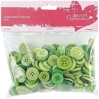 Papermania Buttons Assorted 250G-Green
