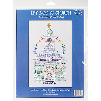 Let's Go To Church Counted Cross Stitch Kit-6