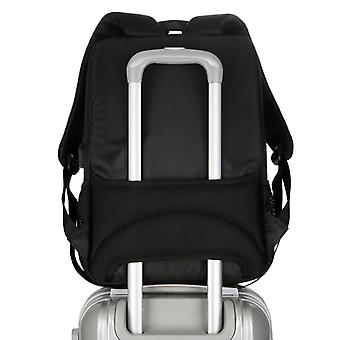 Black backpack made of durable fabric SJL1097