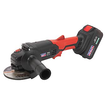 Sealey Cp20Vag Cordless Angle Grinder 115Mm 20V Lithium-Ion 1Hr Charge