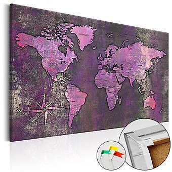 Decorative Pinboard - Amethyst Map [Cork Map]
