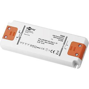 Goobay SET 24-30 LED slim LED transformador de voltaje constante 30 1.25 W A 24 Vdc no regulable, aprobado para su uso en furnitur