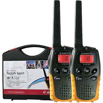 Conjunto de 2 piezas de transmisor-receptor handheld Albrecht Tectalk deporte 29865 PMR