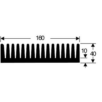 Fin heat sink 0.85 C/W (L x W x H) 100 x 160 x 40 mm Fischer Elektronik SK 85 100 SA