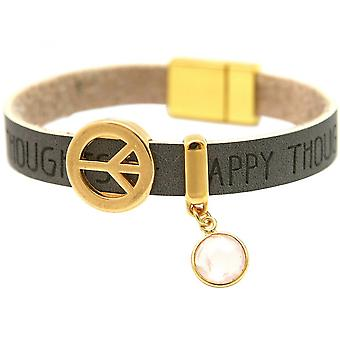Women - bracelet - harmony - peace - WISHES - Rose Quartz - anthracite - grey - magnetic closure