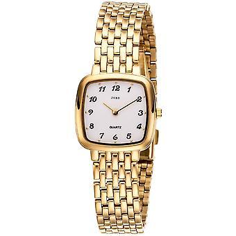 JOBO damer wrist watch kvarts analog rustfrit stål forgyldt kvinders ur