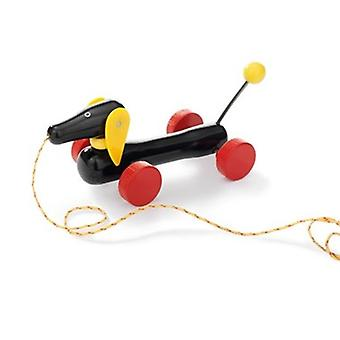 BRIO Small Pull-along Dachshund 30332 Toddler Pull Along Wooden toy