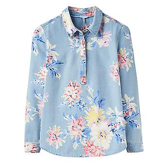 Joules Clovelly Deck Shirt Chambray Whitstable Floral