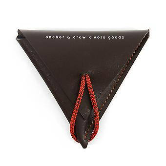 Anchor & Crew Deep Brown Dunster Leather and Rope Coin Purse