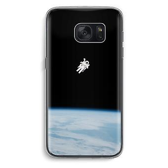 Samsung Galaxy S7 Transparent Case (Soft) - Alone in Space