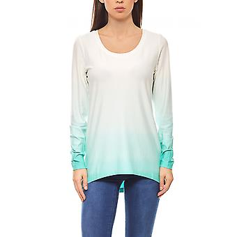 Ashley brooke big sizes white ladies long shirt with gradient