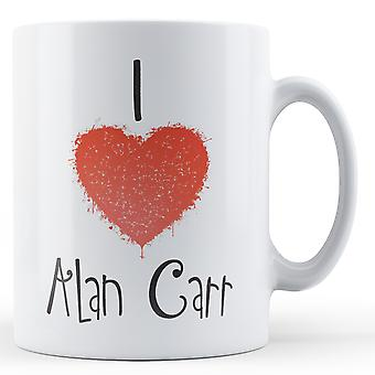 Dekorative skriver jeg elsker Alan Carr trykt krus