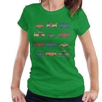 Official Volkswagen Vans And Beetles Women's T-Shirt