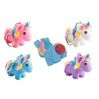 2-pack Unicorn key ring poop of Unicorn Clamp Squeeze Slime