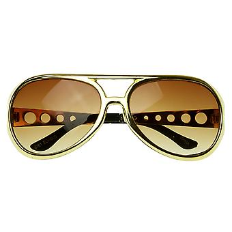 Large Elvis King of Rock Rock & Roll TCB Aviator Sunglasses