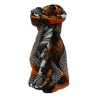 パシュミナ ・ シルクで桑絹現代正方形スカーフ ジオメトリック G118