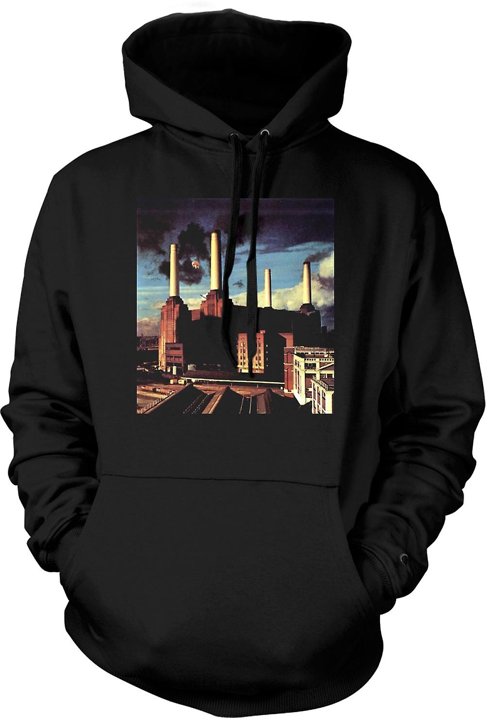 Mens Hoodie - Pink Floyd - Animals Rocher