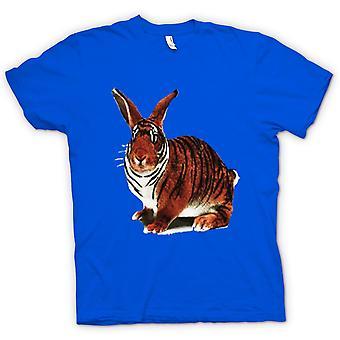 Womens T-shirt - Tiger Rabbit Pop Art Design