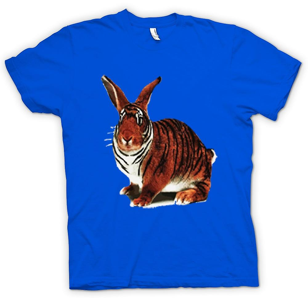 Mens T-shirt - Tiger Rabbit Pop Art Design