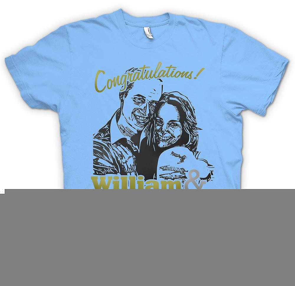 Heren T-shirt-Gefeliciteerd William en Kate