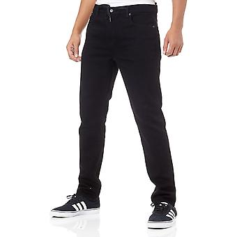 Element Black Rinse E02 Slim Straight Jeans