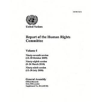 Rapport de la Commission des droits de l'homme - quatre-vingt-dix-septième Session (12-30 O