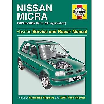 Nissan Micra Service and Repair Manual: 93-02