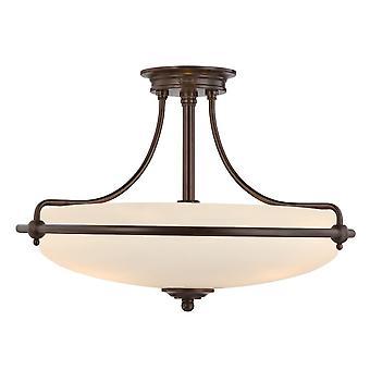 Griffin Palladiaanse bronzen vier lichte semi-Flush plafondlamp - Elstead verlichting Qz / Griffin / QZ/GRIFFIN/SFMPN
