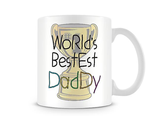 Decorative Writing Worlds Bestest Daddy Printed Mug