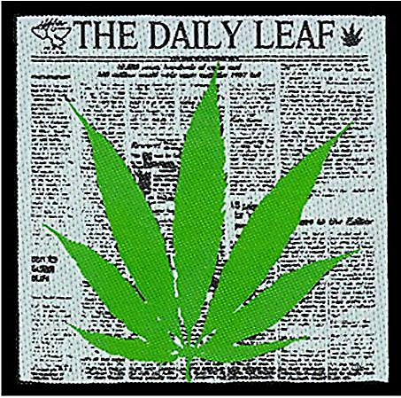 Daily Leaf Cannabis sew-on cloth patch   (mm)