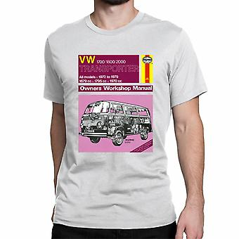 Official Haynes Manual Unisex T-shirt  VW Transporter All Models 72 to 79