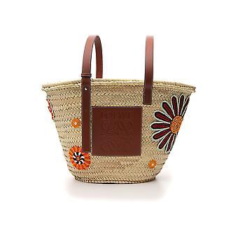 Loewe Beige/brown Canvas Handbag