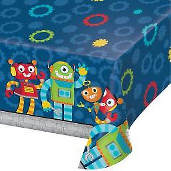 Robot tablecloth 137x259cm 1 piece children birthday theme party party birthday