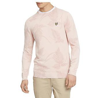 Lyle & Scott Fern estampado Jersey dusky rosa