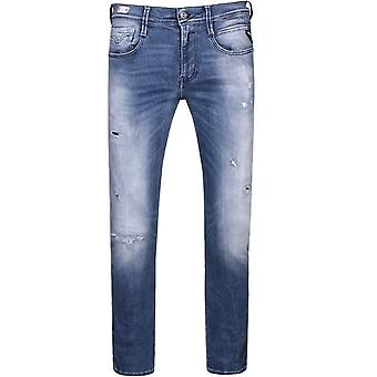 Replay Hyperflex Anbass Slim Fit Jeans Blue