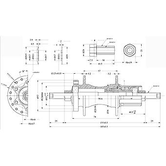 Halo Spin Doctor M10 x 185mm Solid Rear Axle Kit